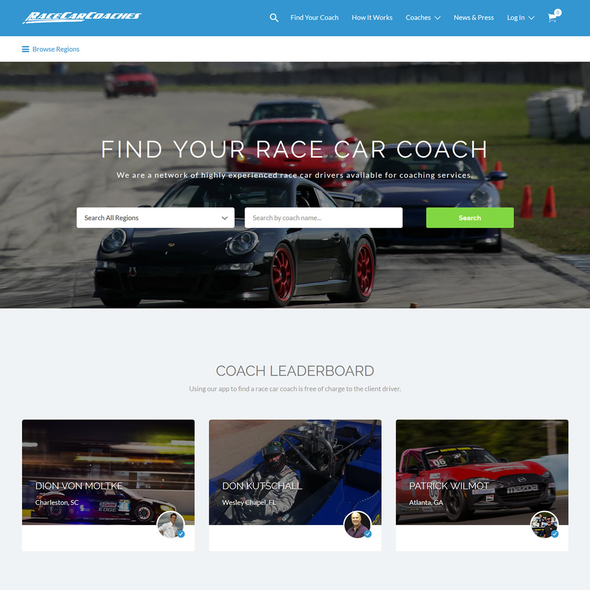 race car coaches ryan dalziel patron gohooper web design miami