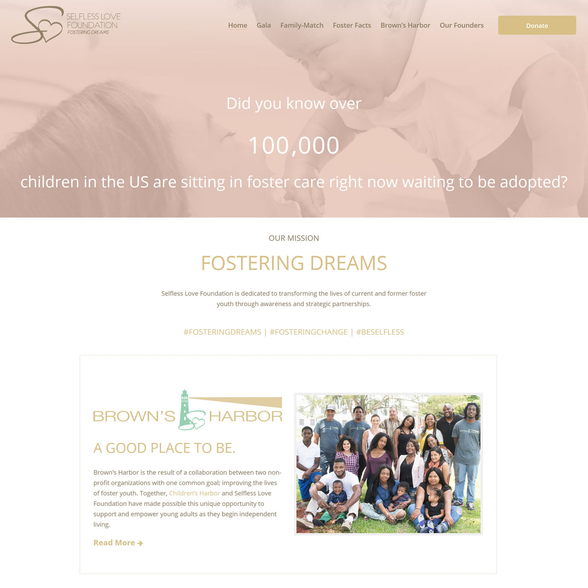 Family Match FL, Selfless Love Foundation, GoHooper Web Design Miami